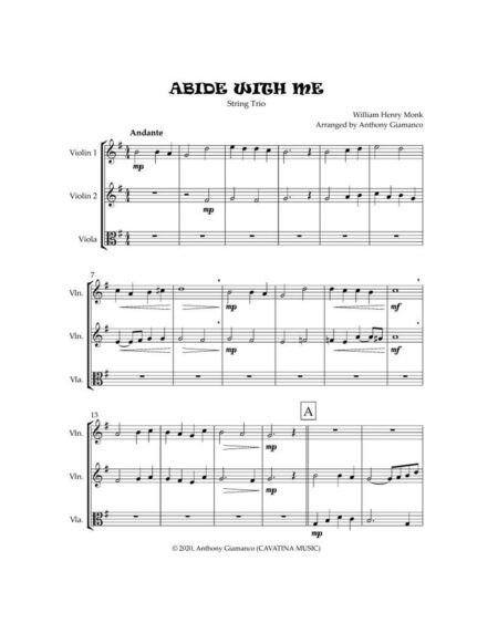 ABIDE WITH ME string trio 1