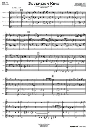 Sovereign King – Clarinet Quartet