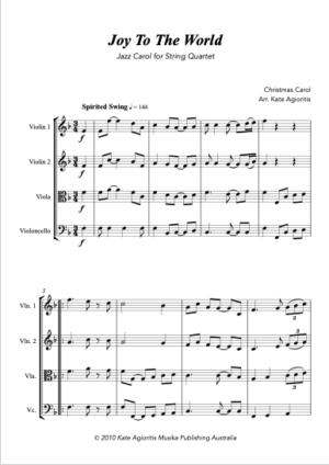 Joy to the World – Jazz Carol for String Quartet