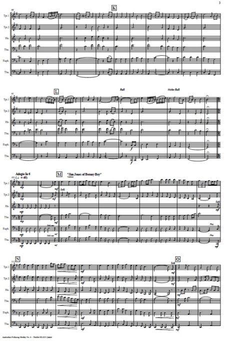 493 Australian Folksong Medley No 6 Flexible Brass Quintet SAMPLE page 03
