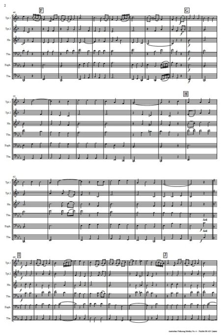 493 Australian Folksong Medley No 6 Flexible Brass Quintet SAMPLE page 02