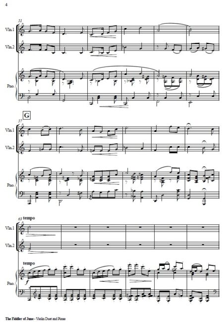 492 The Fiddler of June Violin Duet and Piano SAMPLE page 04