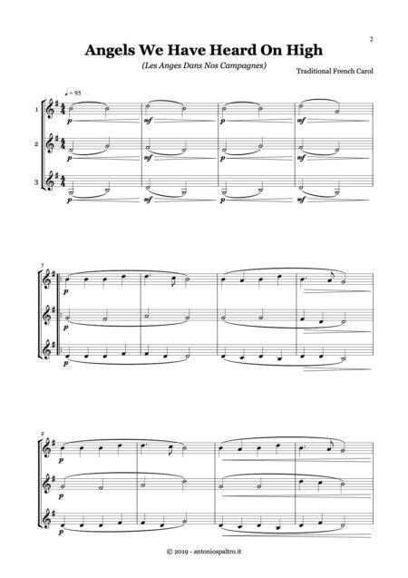Christmas for trio - violins - pag 1