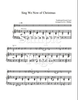 Sing We Now of Christmas – Violin Solo with Piano Accompaniment