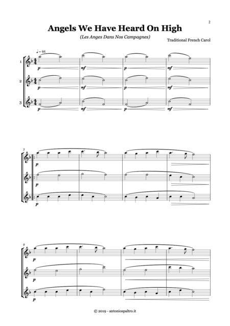 Christmas for trio flute oboe sax pag 1
