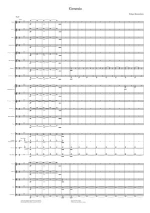 Genesis by Felipe Monteforte (Conductor Score)