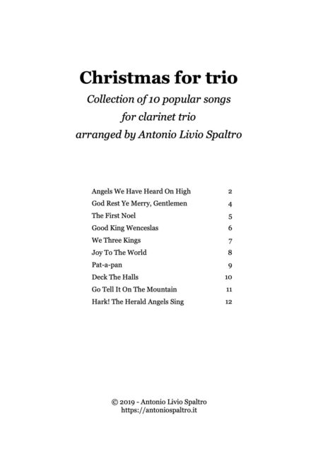 Christmas for trio clarinets