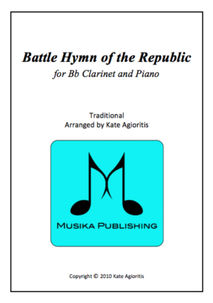 Battle Hymn of the Republic – Jazz Arrangement – Clarinet and Piano