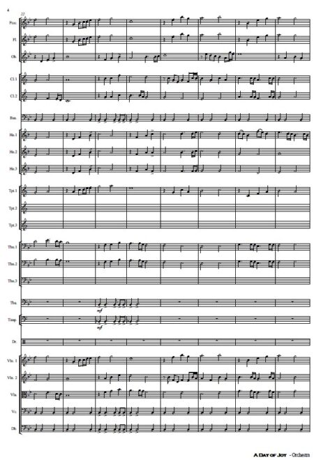 486 A Day of Joy Orchestra SAMPLE page 04