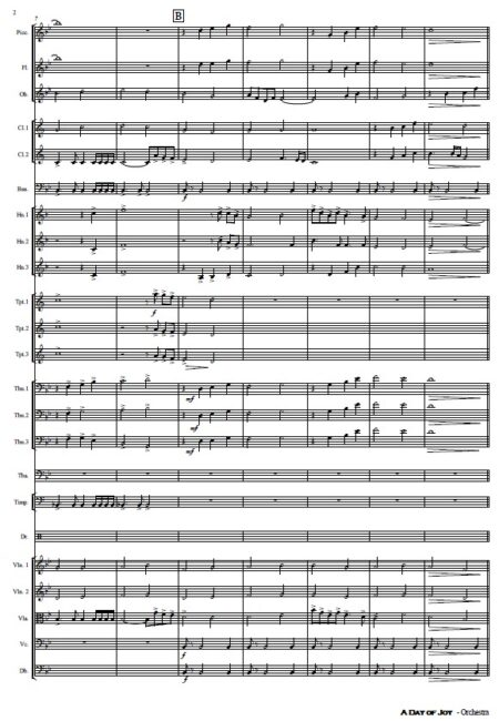 486 A Day of Joy Orchestra SAMPLE page 02