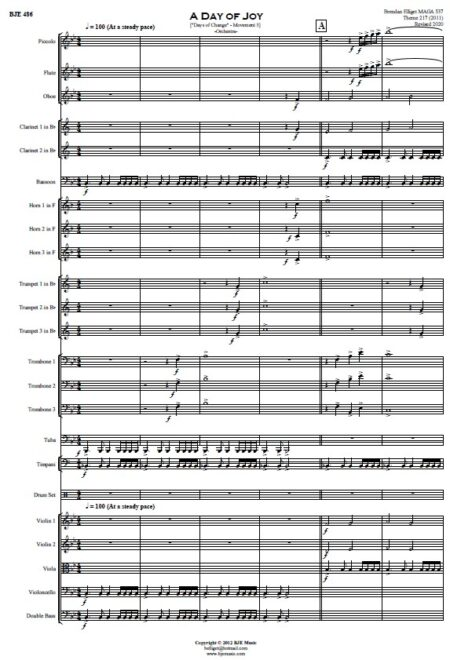 486 A Day of Joy Orchestra SAMPLE page 01