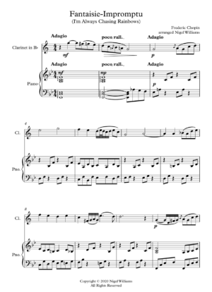 Fantaisie-Impromptu, for clarinet and piano