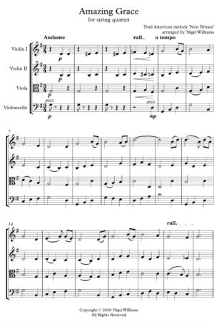 Amazing Grace – String Quartet