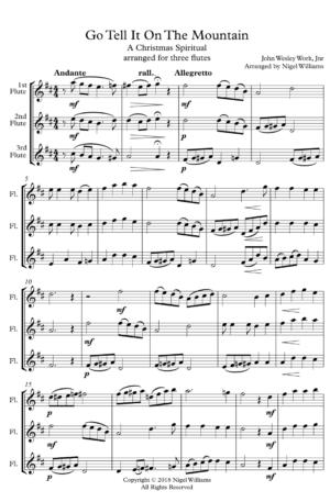 Go Tell It On The Mountain – Flute Trio