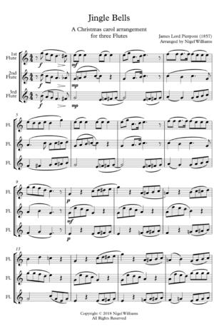 Jingle Bells – Flute Trio