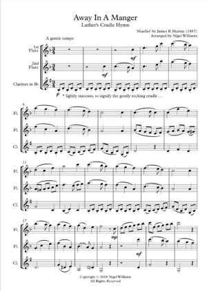 Away in a Manger – Woodwind Trio