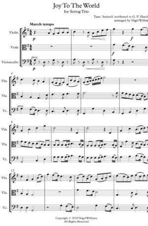 Joy to the World – String Trio