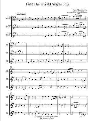 Hark The Herald Angels Sing – Flute Trio