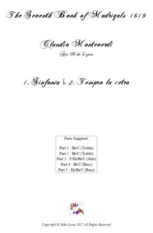 Flexi Quintet – Monteverdi, 7th Book of Madrigals (1614) – 01. Sinfonia and Tempro la cetra a5