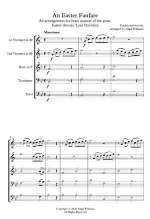 An Easter Fanfare – Brass Quintet