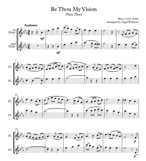Be Thou My Vision, for Flute Duet