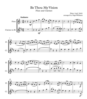 Be Thou My Vision, for Flute and Clarinet
