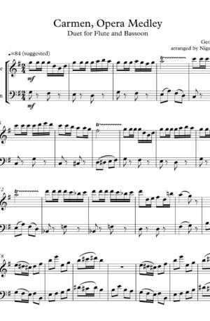 Opera Medley, Carmen, duet for flute and bassoon
