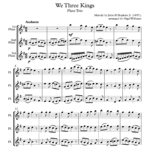 We Three Kings – Flute Trio