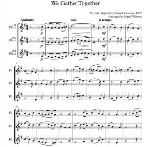 We Gather Together – Flute Trio