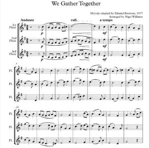 We Gather Together – Flute Trio