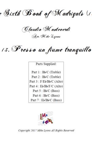 Flexi Quintet – Monteverdi, 6th Book of Madrigals (1614) – 13. Presso un fiume tranquillo