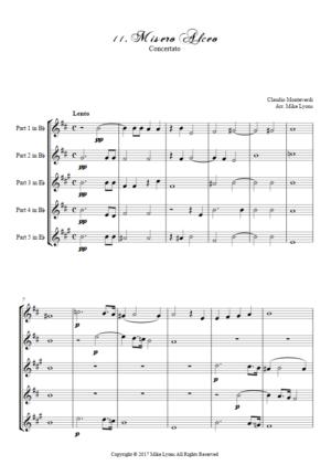 Flexi Quintet – Monteverdi, 6th Book of Madrigals (1614) – 11. Misero Alceo