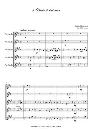 Flexi Quintet – Monteverdi, 6th Book of Madrigals (1614) – 09. Ohimè il bel viso