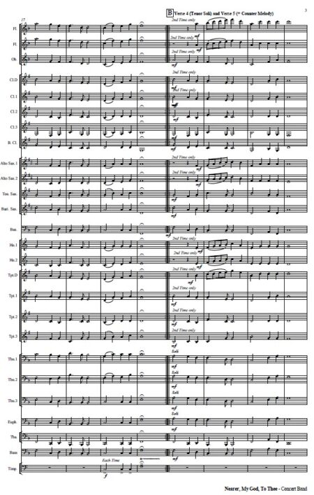265 Nearer My God to Thee Concert Band SAMPLE page 03