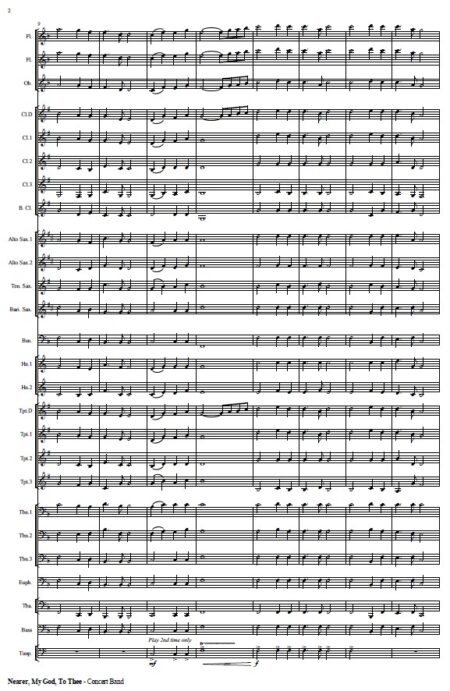 265 Nearer My God to Thee Concert Band SAMPLE page 02