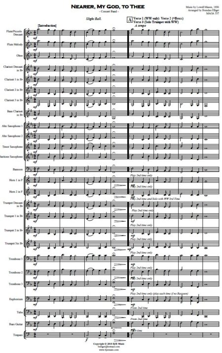 265 Nearer My God to Thee Concert Band SAMPLE page 01