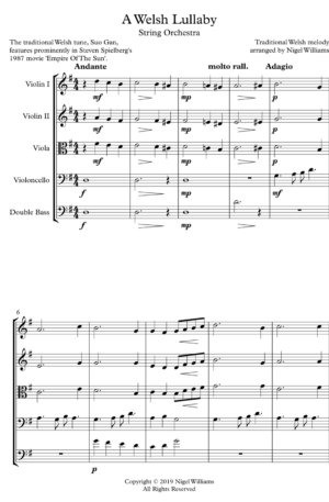 Welsh Lullaby – String Orchestra