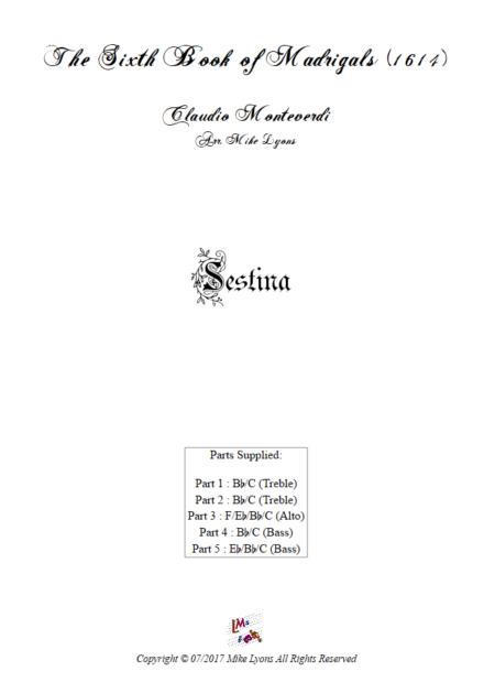 Madrigals Book 6 Sestina
