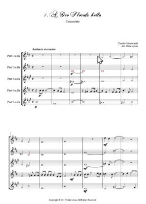 Flexi Quintet – Monteverdi, 6th Book of Madrigals (1614) – 07. A Dio Florida bella