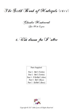 Flexi Quintet – Monteverdi, 6th Book of Madrigals (1614) – 06. Una donna fra I' altre