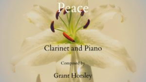 """Peace"" for Clarinet and Piano- Intermediate"