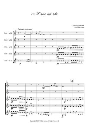 Flexi Quintet – Monteverdi, 5th Book of Madrigals (1605) – 17. T'amo mia vita