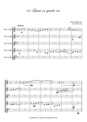 Flexi Quintet – Monteverdi, 5th Book of Madrigals (1605) – 16. Amor, se giusto sei