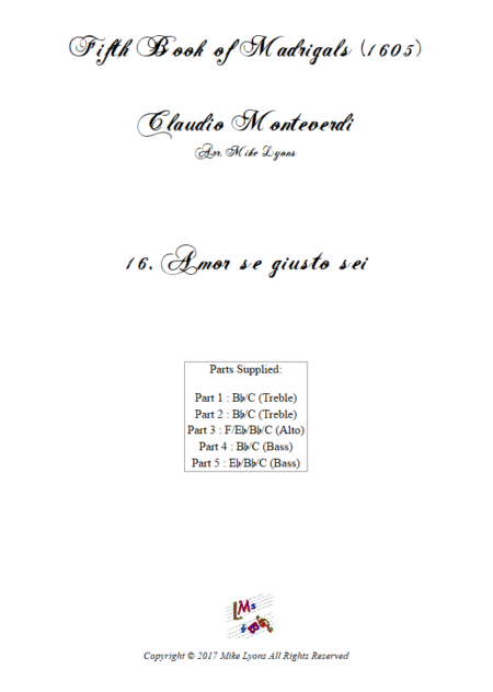 Madrigals Book 5 16