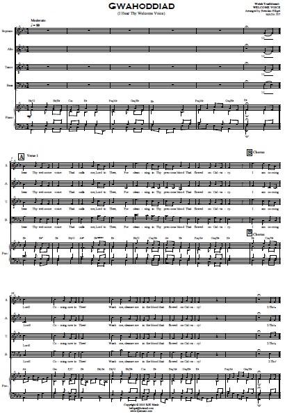 214 Gwahoddiad SATB Choir and Orchestra SAMPLE page 07
