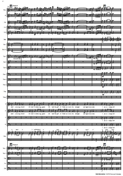 214 Gwahoddiad SATB Choir and Orchestra SAMPLE page 06