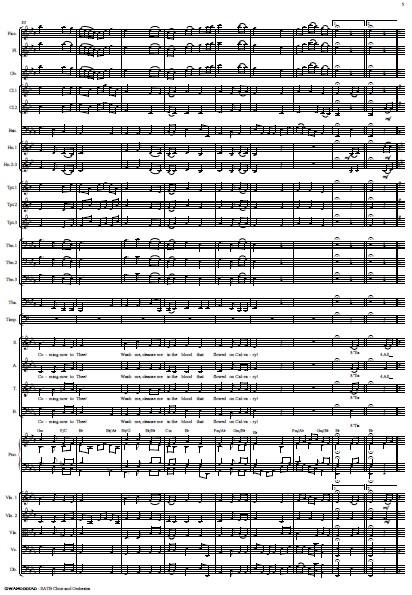 214 Gwahoddiad SATB Choir and Orchestra SAMPLE page 05