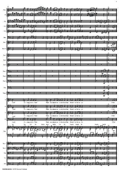 214 Gwahoddiad SATB Choir and Orchestra SAMPLE page 03