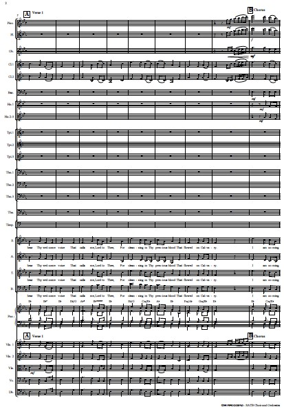 214 Gwahoddiad SATB Choir and Orchestra SAMPLE page 02