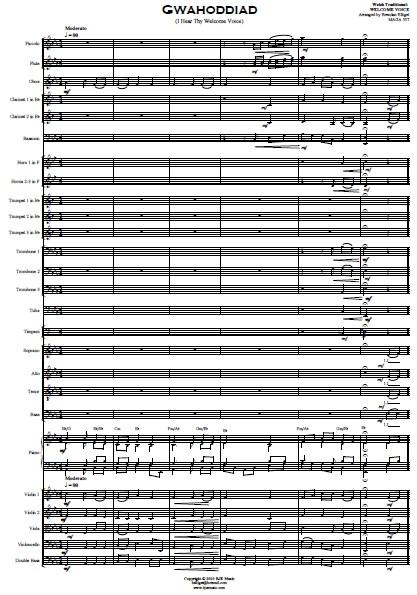 214 Gwahoddiad SATB Choir and Orchestra SAMPLE page 01